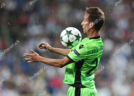Joao Pereira of Sporting Lisbon  during the  UEFA Champions League , Group F match between Real Madrid and Sporting Lisbon played at Santiago  Bernabeu stadium   ,Madrid  on 14th September  2016