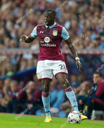 Aston Villa's Aly Cissokho during the Sky Bet Championship match between  Aston Villa and Brentford played at Villa Park, Birmingham on 14th September 2016