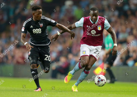 Aston Villa's Aly Cissokho takes on Brentford's Josh Clarke during the Sky Bet Championship match between  Aston Villa and Brentford played at Villa Park, Birmingham on 14th September 2016