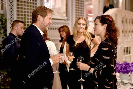 Niccolo Barattieri di San Pietro, Lady Kitty Spencer and Jasmine Guinness