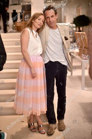 Stock Image of Lucie de la Falaise and Marlon Richards