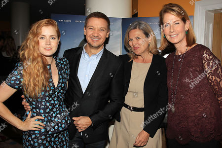 Amy Adams, Jeremy Renner, Cynthia McFadden and Perri Peltz