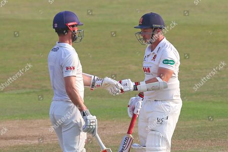 James Foster (L) and Graham Napier of Essex during Essex CCC vs Glamorgan CCC, Specsavers County Championship Division 2 Cricket at the Essex County Ground on 15th September 2016