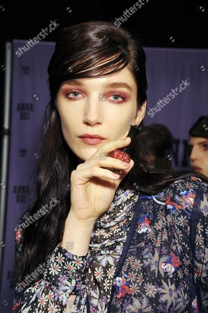 Editorial image of Anna Sui show, Backstage, Spring Summer 2017, New York Fashion Week, USA - 14 Sep 2016