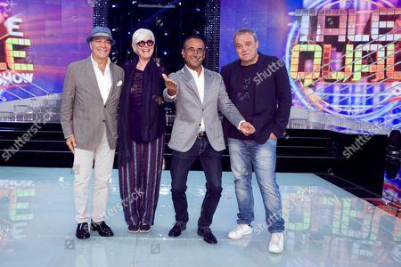 Enrico Montesano, Loretta Goggi, Carlo Conti, Claudio Amendola