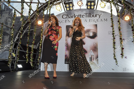 Stock Picture of Candi Staton and Charlotte Tilbury on the stage
