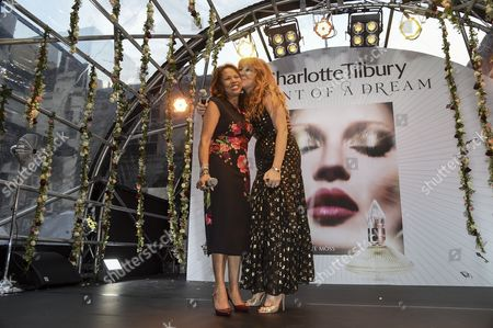 Stock Image of Candi Staton and Charlotte Tilbury on the stage