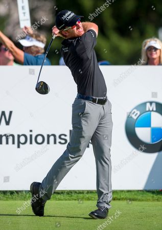 Roberto Castro Roberto Castro tees off from the 15th tee box during the final round of the BMW Championship golf tournament at Crooked Stick Golf Club in Carmel, Ind., . Dustin Johnson won the tournament