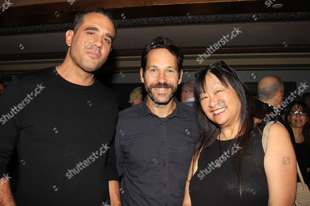 Stock Picture of Bobby Cannavale, Paul Rudd and May Pang