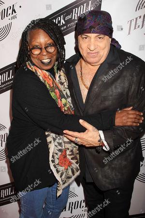 Whoopi Goldberg and Stevie Van Zandt