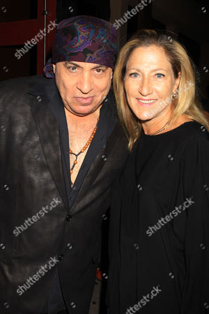 Stevie Van Zandt and Edie Falco