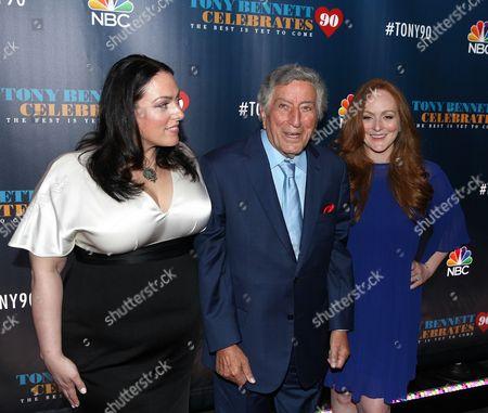 Johanna Bennett, Tony Bennett and Antonia Bennett