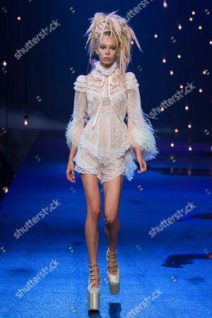 Stock Photo of Zosia Cychol on the catwalk