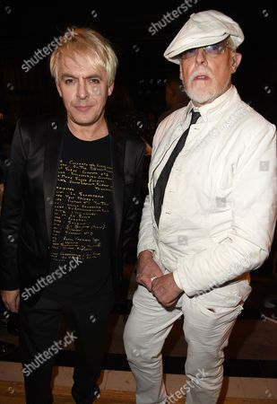 Nick Rhodes and Antony Price in the front row