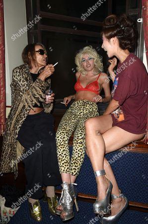 Anita Pallenberg, Daisy Boyd and Betty Bachz backstage