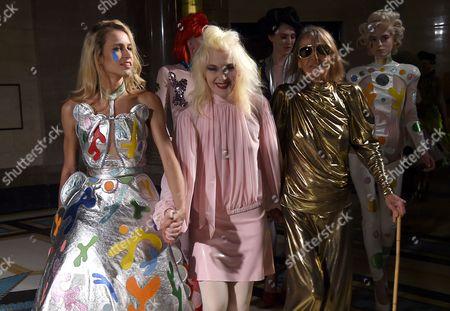 Alice Dellal, Pam Hogg and Anita Pallenberg backstage