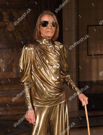 Stock Image of Anita Pallenberg on the catwalk