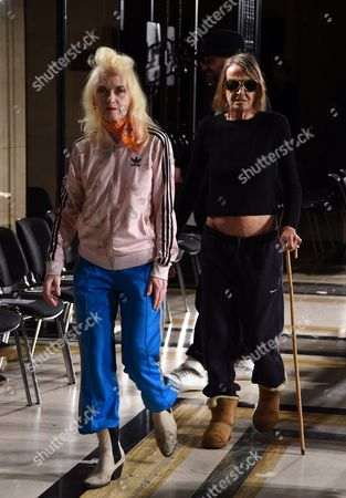 Pam Hogg and Anita Pallenberg in the front row