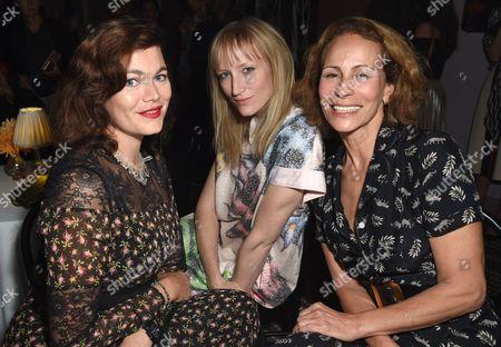 Jasmine Guinness, Jade Parfitt and Andrea Dellal