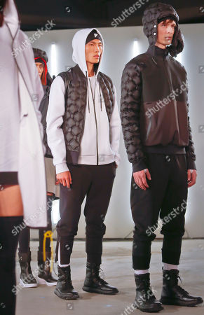 Under Armour Fashion from the UAS collection from Under Armour and Tim Coppens is modeled during Fashion Week, in New York