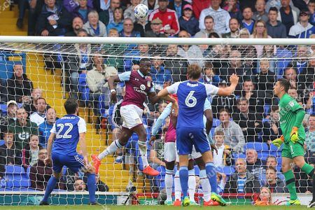 Aly Cissokho of Aston Villa clears the ball off the line from Freddie Sears of Ipswich Town - Ipswich Town v Aston Villa, Sky Bet Championship, Portman Road, Ipswich - 17th September 2016.