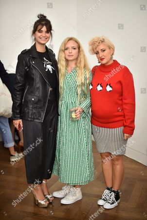 Stock Photo of Pixie Geldof, Hannah Weiland and Amy Phillips in the front row