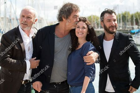 Geoffroy Thiebaut, Olivier Marchal, Elsa Linguini and Michael Youn