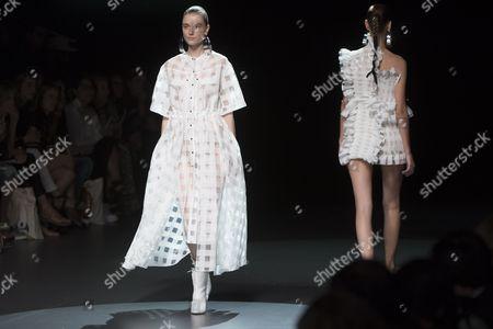 Editorial image of Juan Vidal show, Mercedes Benz Fashion Week, Madrid, Spain - 16 Sep 2016