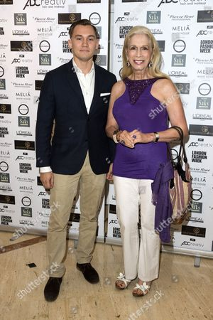DIMA CAMPBELL and Lady Colin Campbell attend the Kolchagov Barba SS 17 fashion show during London Fashion Week. London, UK.