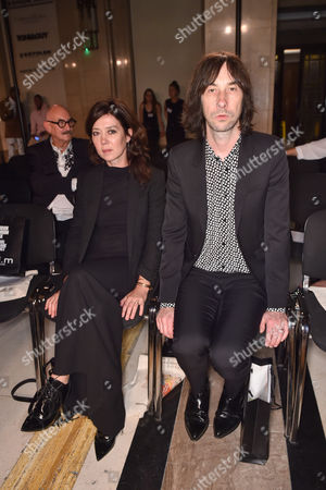 Katy England and Bobby Gillespie in the front row
