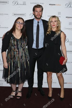 Jocelyn Moorhouse (Director), Liam Hemsworth and Kate Winslet