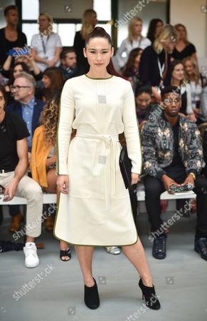 Editorial image of Jasper Conran Show, Front Row, Spring Summer 2017, London Fashion Week, UK - 17 Sep 2016