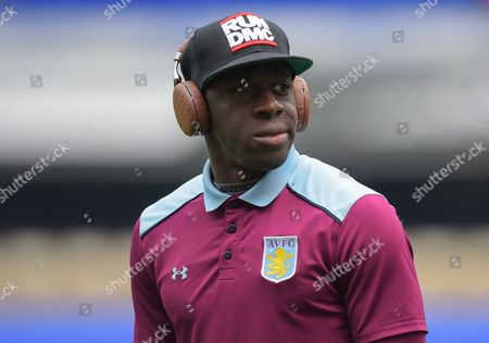 Aly Cissokho of Aston Villa inspects the pitch ahead of the Sky Bet Championship match between Ipswich Town and Aston Villa played at Portman Road, Ipswich on 17th September 2016
