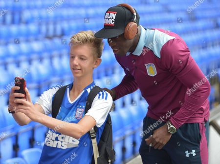 Aly Cissokho of Aston Villa poses for a picture during the Sky Bet Championship match between Ipswich Town and Aston Villa played at Portman Road, Ipswich on 17th September 2016