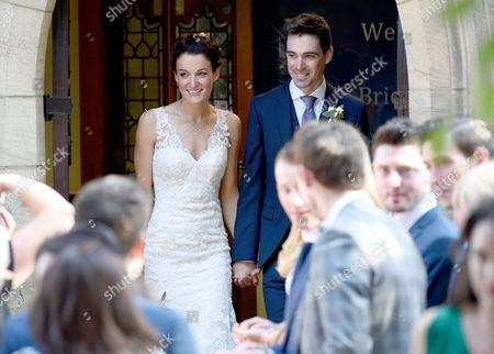 Stock Image of Lizzie Armitstead and Philip Deignan wedding