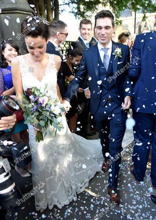 Editorial picture of Lizzie Armitstead and Philip Deignan wedding at Bridge Church, Otley, Yorkshire, UK - 17 Sep 2016