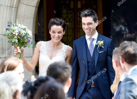 Editorial image of Lizzie Armitstead and Philip Deignan wedding at Bridge Church, Otley, Yorkshire, UK - 17 Sep 2016