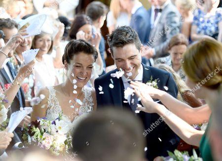 Stock Photo of Lizzie Armitstead and Philip Deignan wedding