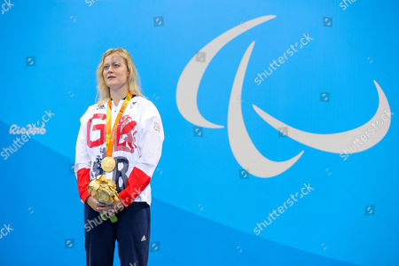 Hannah Russell of Great Britain wins Gold in the Women's 50m Freestyle S12 Final.