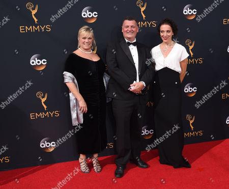 Sue Vertue, Steven Moffat and Amanda Abbington