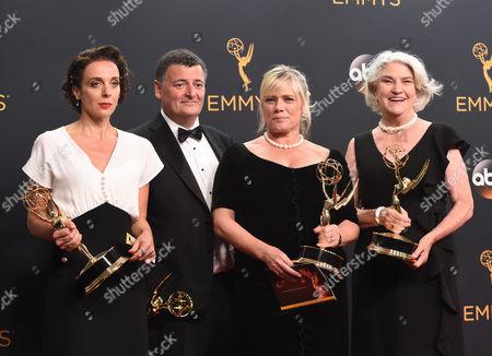 Amanda Abbington, Steven Moffat, Sue Vertue and Rebecca Eaton