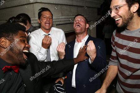 Ron Fuches, Simon Rex and Stephen Rannazzisi