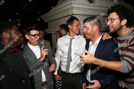 Ron Fuches, Simon Rex and Stephen Rannazzisi