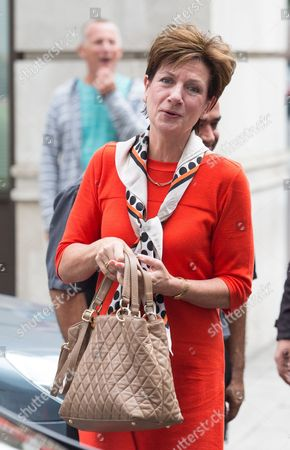 Leader of the UK Independence Party Diane James arrives at BBC Broadcasting House