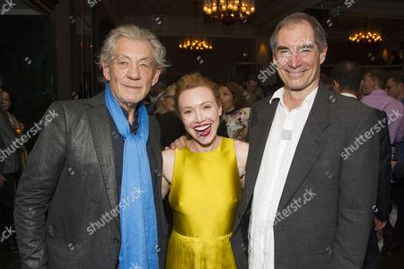 Sir Ian McKellen, Daisy Lewis and Timothy Dalton