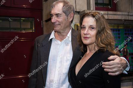 Timothy Dalton and Barbara Broccoli