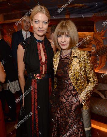 Jemma Kidd and Anna Wintour