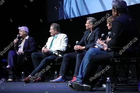 Stock Photo of Angela Lansbury, Richard White, Robby Benson, Paige O'Hara, Don Hahn, Eugene Hernandez