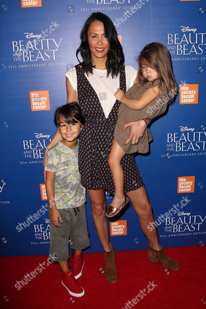 Jules Wainstein with son Jagger and daughter Rio