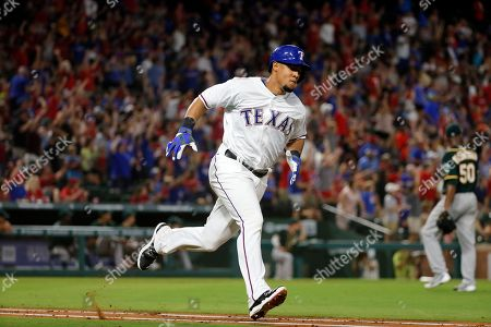 Carlos Gomez Texas Rangers' Carlos Gomez rounds the bases on hist two-run home run off of Oakland Athletics' Raul Alcantara (50) in the sixth inning of a baseball game, in Arlington, Texas